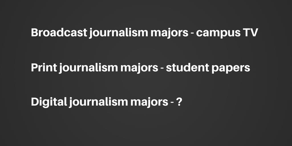digital journalism majors