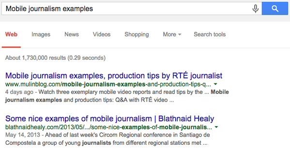 mobile journalism examples